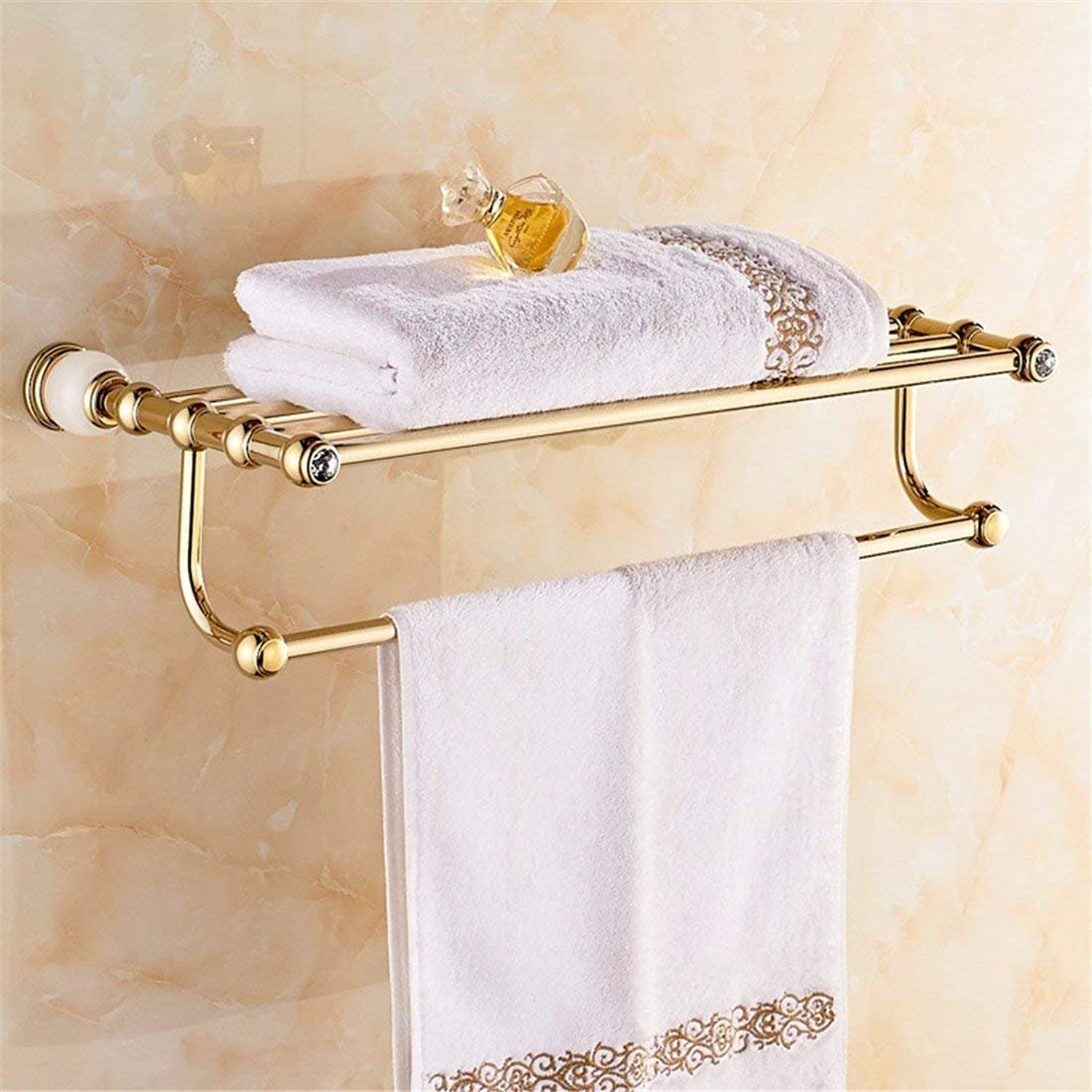 White gold of European Christmas Copper Accessories Jade Diamond of Bathroom Basic Set of WC Brush Paper Holder Dry-Towels,