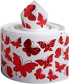 Laser Holographic Grosgrain Ribbon Animal Butterfly Printed 3