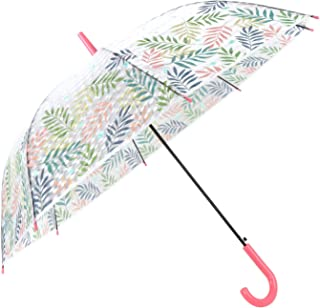HAOCOO 3D Water Cube Umbrella Windproof, Auto Open Long Sturdy Umbrella Rain 8 Stick Canopy for Kids Girls Outdoor Weddings or Events, Pink (Pink) - 3D Leaves Stick Umbrella Pink