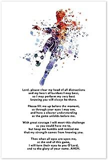Soccer Prayer Poster - Christian Athlete Gift