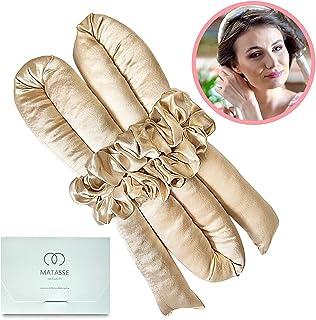 MATASSE Heatless Hair Curler - 100% Grade 6A 22 Momme Mulberry Silk - Headband with 2 Scrunchies Set