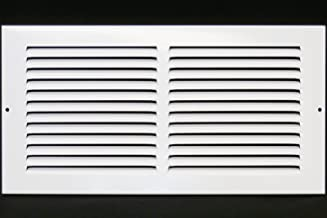 "14""w X 8""h Steel Return Air Grilles - Sidewall and Ceiling - HVAC Duct Cover - White [Outer Dimensions: 15.75""w X 9.75""h]"