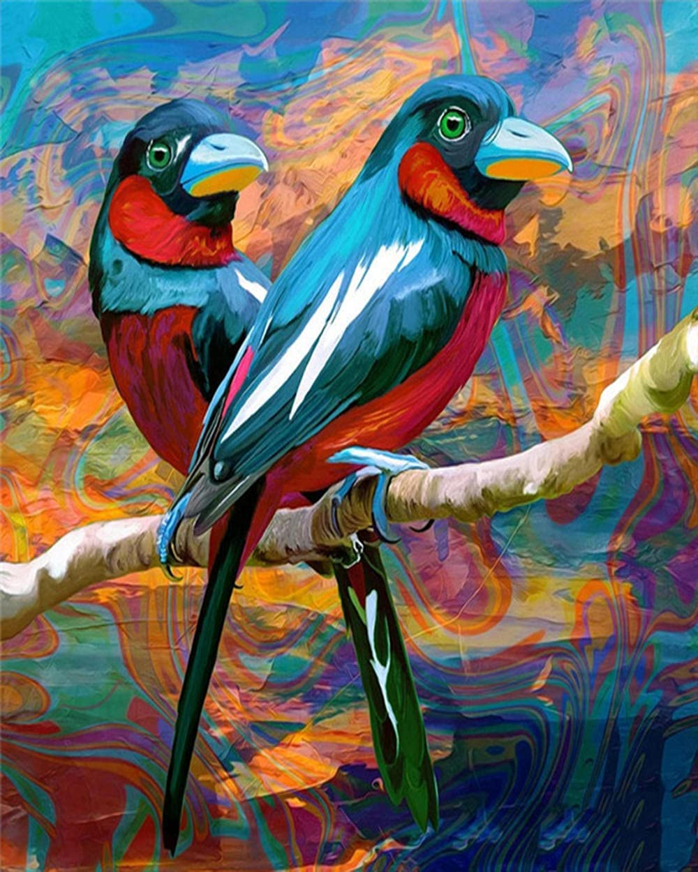 HRKDHBS Paint by favorite Numbers Parrot Max 68% OFF 40X50Cm Frame with DIY Acrylic