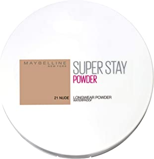 Maybelline New York Super Stay 16h Waterproof Powder for Flawless Coverage - 021 Nude, 9g
