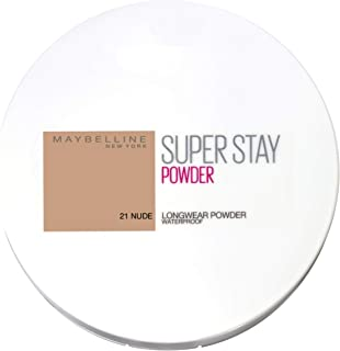 Maybelline Super Stay 24h Waterproof Powder for Flawless Coverage - 021 Nude 9g