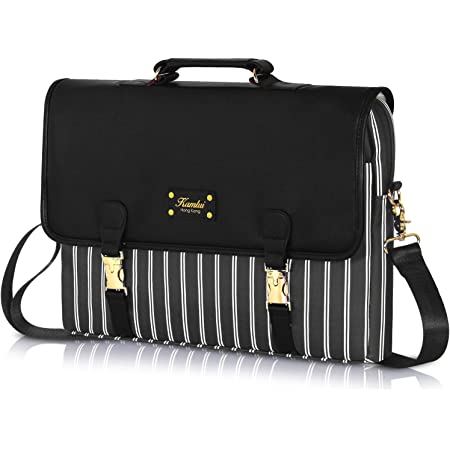 Laptop Shoulder Bag Carrying Briefcase Handbag Sleeve Case Portrait African Women Dark Skin Female Face with Colorful Hair Afro and Metal Glasses Cute Laptop Cases 15.6 for Women