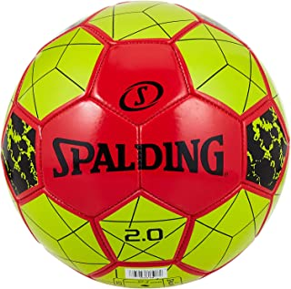 Spalding 2.0 Red/Yellow Size 5 Soccer Ba