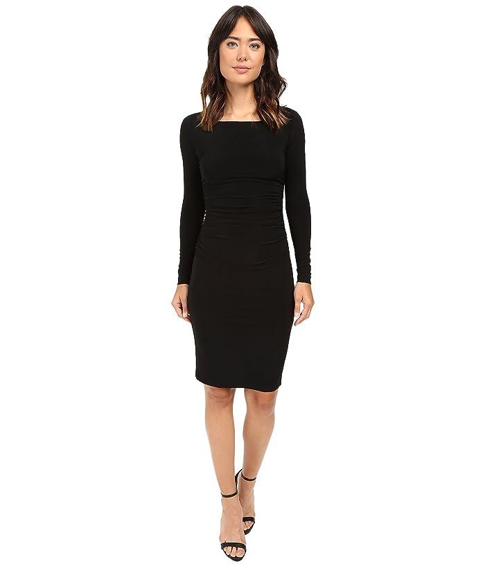 d5f210e60da19 L/S Shirred Waist Dress