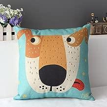 Decorbox Cotton Linen Square Decorative Cushion Cover Sofa Throw Pillowcase 18 x 18 Big Dog