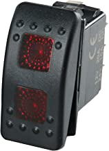 Amarine Made 12v 20 Amp Waterproof ON-Off-ON 2 Position Boat Marine DPDT 7 Pin Rocker Switch with 2 Led Lamps