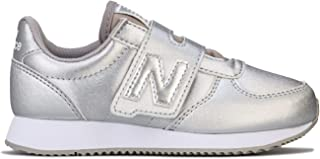 New Balance Children Girls Glitter Trainers Sneakers in Silver
