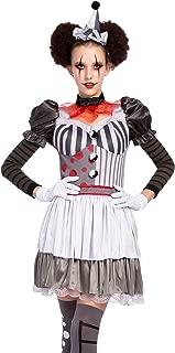 Spooktacular Creations Halloween Creepy Evil Scary Clown Costume for Women