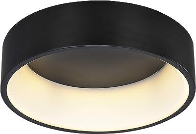 WOFI PURE Plafonnier Acrylique 36 W Noir