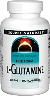 Source Naturals L-Glutamine - Free Form Amino Acid That Supports Metabolic Energy - 100 Capsules