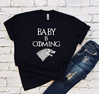 BABY IS COMING Game Of Thrones Inspired Mom To Be T-shirt, Pregnancy Announcement Shirt