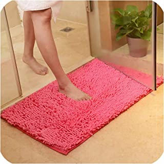 Bath mat Memory Carpet Rugs Toilet Funny Bathtub Room Living Room Door Stairs Bathroom Foot Floor mats,Rose Red,80x120cm