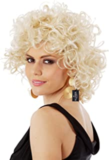 Sandy Wig Grease Costume Wigs 50s Bad Girl Short Blonde Curly Wig Ladies and Kids