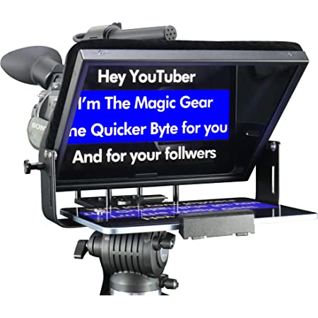 12x12 BeamSplitter Glass Prompter People Prompter Pal FreeStanding Teleprompter with Tablet Cradle for iPhone or iPad