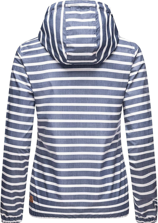 Ragwear Damen Übergangsjacke Regenjacke mit Kapuze Saille XS-XXL Blau