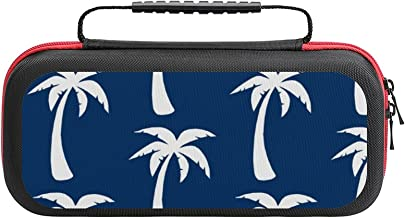 $26 » Large Navy Palm Trees Deep Blue Case Compatible with Switch Case Protective Carry Bag Hard Shell Storage Bag Portable Trav...