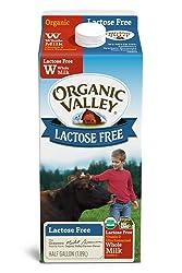 Organic Valley, Organic Lactose Free Whole Milk, Ultra Pasteurized, Half Gallon, 64 Ounces