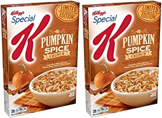 Limited Edition! Kelloggs Special K Pumpkin Spice Crunch Value Size 17.7oz - Two (2) Pack