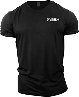 GYMTIER Gym Clothes for Men - Gym T-Shirt Bodybuilding Workout T Shirt Training Top MMA Men's Active Wear