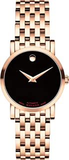 Women's Red Label Rose Gold Watch with a Concave Dot Museum Dial, Gold/Pink (Model 607064)