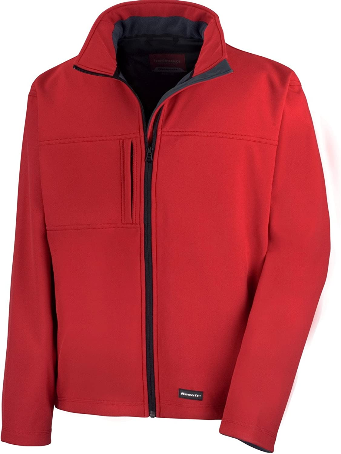 (Medium, Red) - Result R121a Classic Soft Shell Jacket