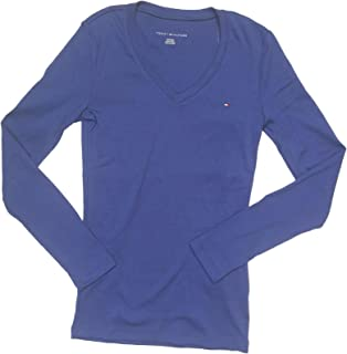 Tommy Hilfiger Women's Long Sleeve Solid V-Neck T-Shirt