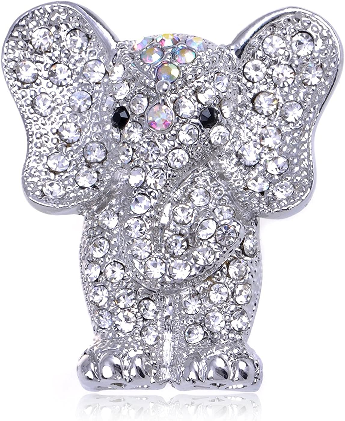 Alilang Indian African King Award Elephant Department store An Clear Rhinestone Crystal