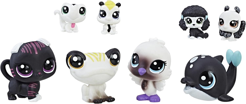 Littlest Pet Shop Black & White Friends 5 Playset