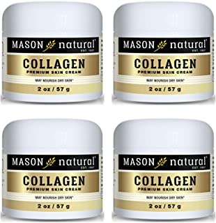 Best Collagen Beauty Cream Made with 100% Pure Collagen Promotes Tight Skin Enhances Skin Firmness 2 OZ. Jar PACK of 4 Review