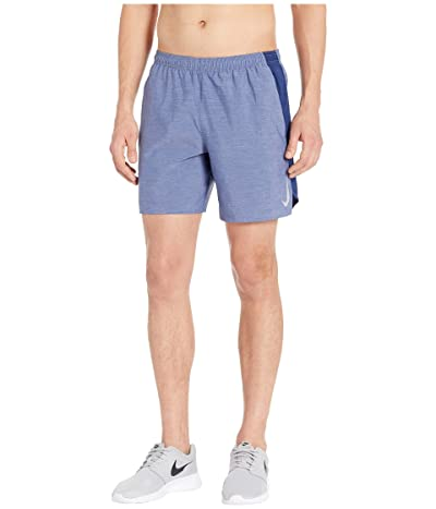 Nike Challenger Shorts 7 BF (Blue Void/Blue Void/Heather/Reflective Silver) Men