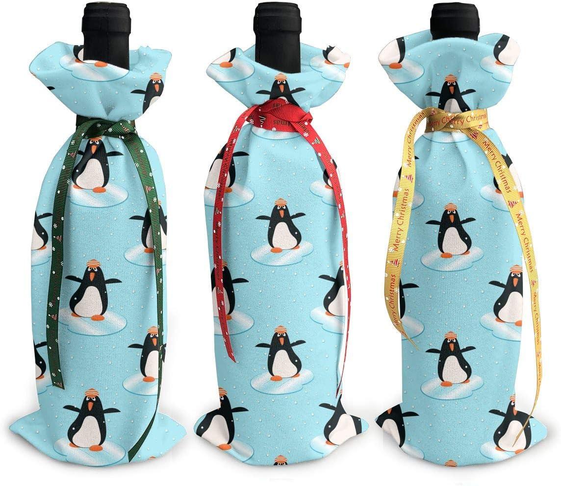 Penguin Animal Christmas Art Black W NEW Xmas Red Blue3Pcs Sale SALE% OFF