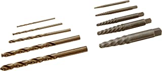 Irwin Industrial Tools 11117 Pouched Spiral Flute Screw Extractors with Cobalt Drill Bits Set, 10-Piece