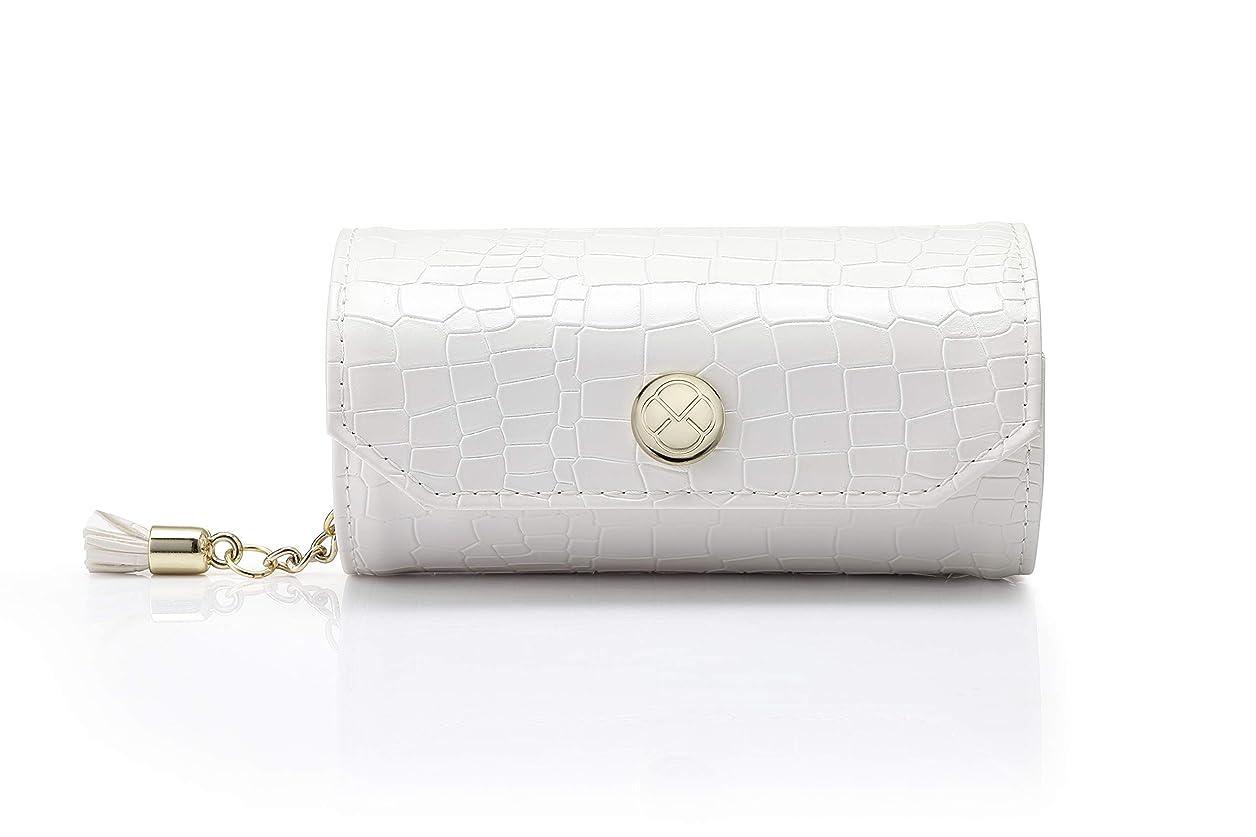 遮るペグ論理的Vlando アクセサリーバッグ小柄携帯旅行外出のイヤリング ネックレス 腕時計 化粧品 お釣り収納バッグ-ホワイト