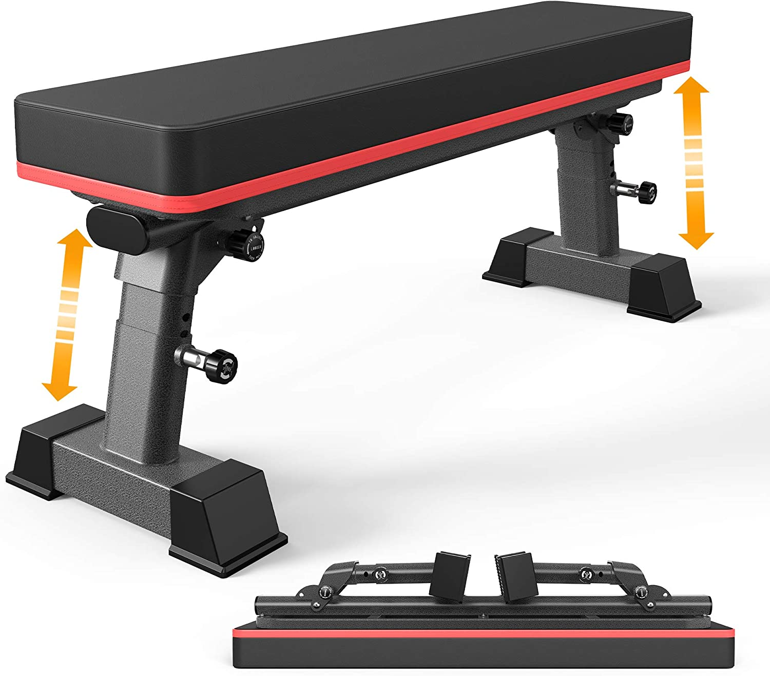 Over item handling YouTen Weight Bench for Lift Height Exercise Adjustable Import B