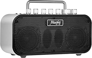 Mugig MA-2 Electric Guitar Amplifier, 10W Amp, 8 Customized Timbre and Effects, Multi-Connection, Built-In Tuner, Dual-Power by AA Batteries or DC12V