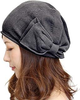 医療用帽子 リボンベレー帽 綿100% 医療用 ケア帽子 春 夏 抗がん剤 脱毛 選べるカラーバリエーション