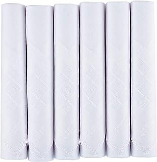 Pañuelos para hombre de algodón de calidad, paquete de 6 pañuelos ...