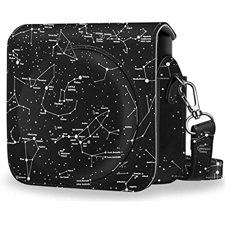 Fintie Protective Case Compatible with Fujifilm Instax Square SQ6 Instant Film Camera - Premium PU Leather Bag Cover with Removable Adjustable Strap, Constellation