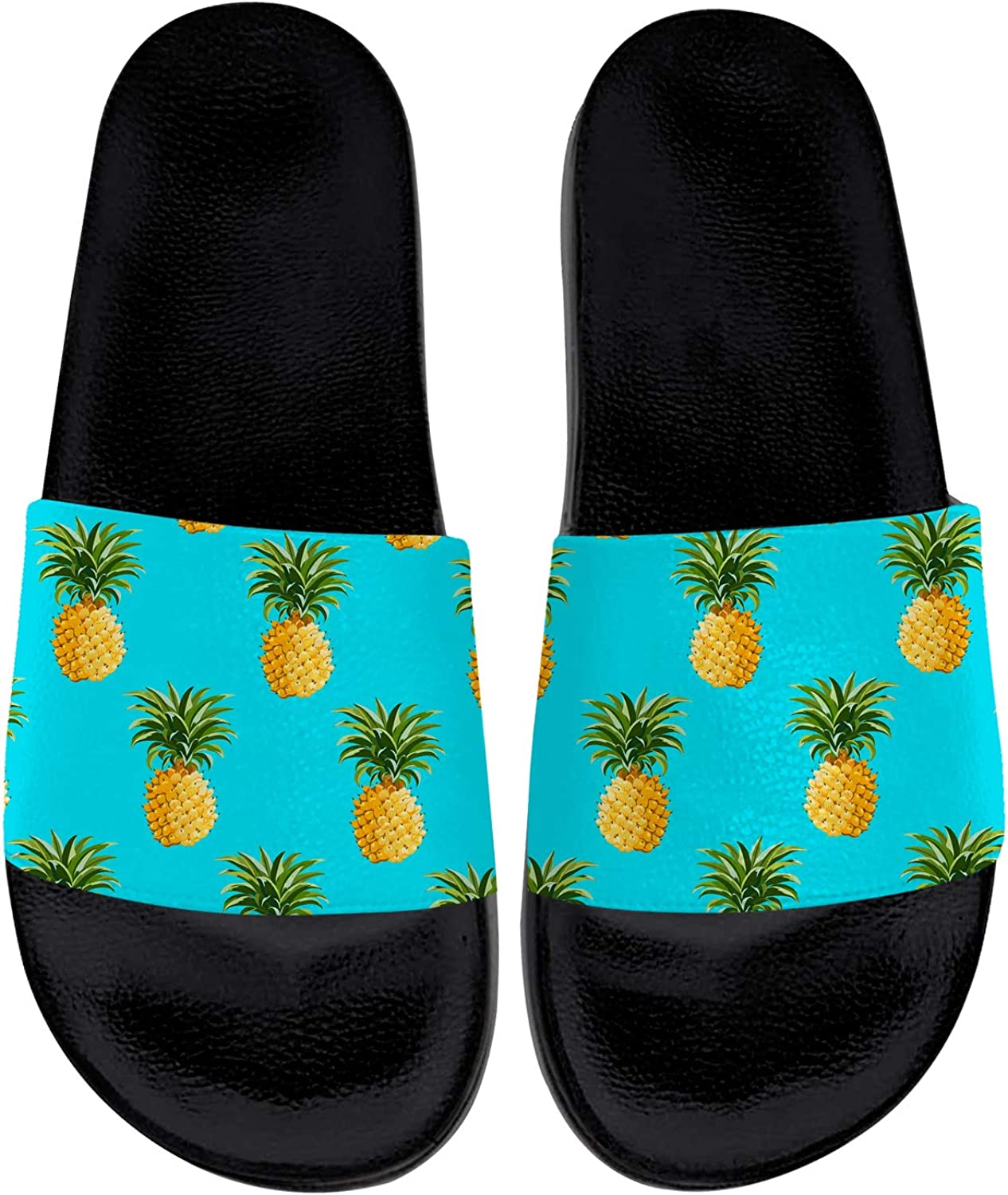 Pineapple Sandals Womens Oakland Max 79% OFF Mall Mens House Slid Indoor Outdoor Slippers