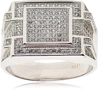 Atiq Mens 925 Sterling Silver Fashion Ring - RH0208-SR-8, Color Silver, Size 8