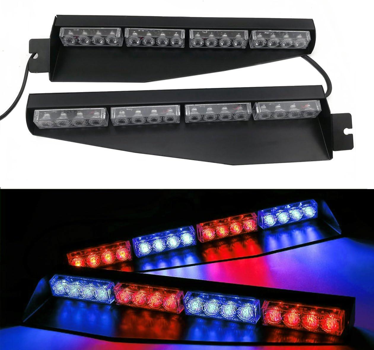 TASWK 32LED 32W LED Lightbar Emergency Windshield Light Sales for sale Ha Visor Quantity limited