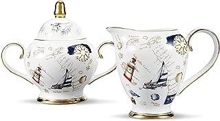 Ndhtヨーロッパロイヤルイングランドボーンチャイナセラミックティーカップコーヒーカップボーンチャイナセット Milk Jug and Sugar Pot NDHT092003