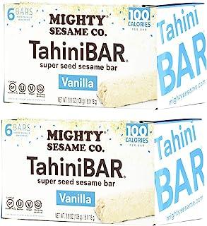 Mighty Sesame TahiniBars (Vanilla, 2 Pack) 100 Calorie Bar