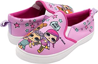 L.O.L. Surprise! LOL Surprise! Girls Slip On Shoes - Pink Canvas Sneakers for Kids