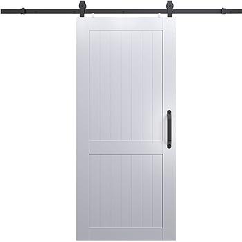 Amazon Com Tenoner Sliding Barn Door 36in X 84in K Frame White With Barn Door Hardware Kit Diy Door Home Improvement