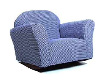 KEET Roundy Rocking Kid's Chair Gingham, Navy